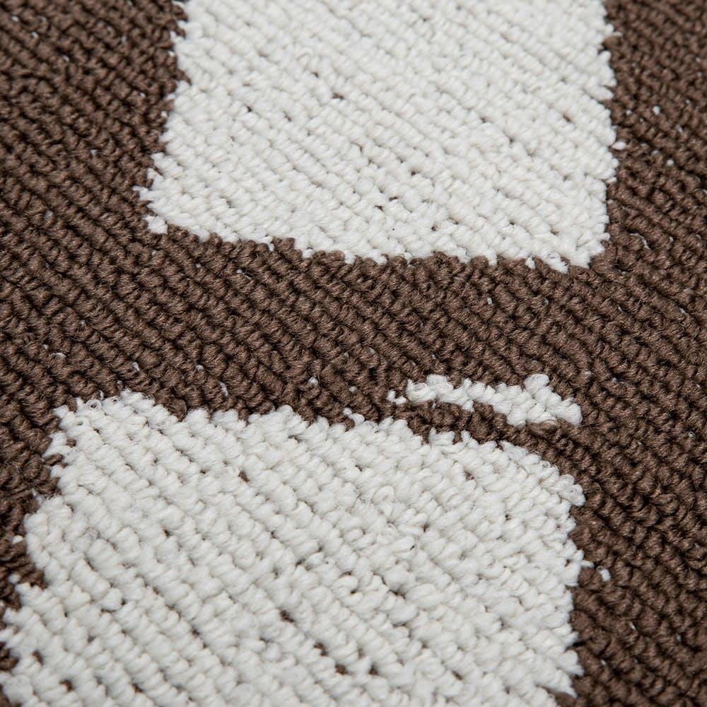 洗えるずれにくいラグ 185×185cm モカ, , product