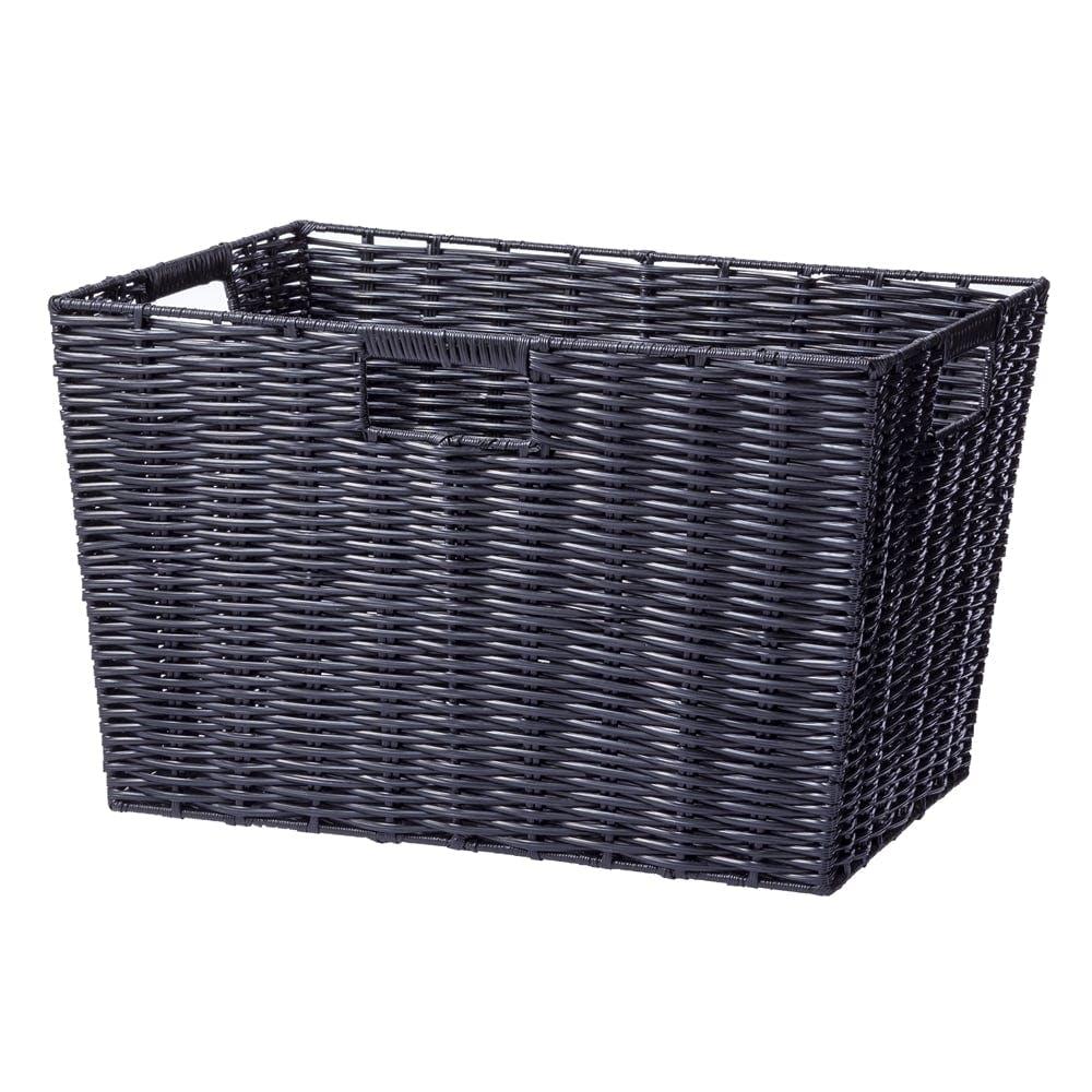 インテリアバスケット ブラック, , product