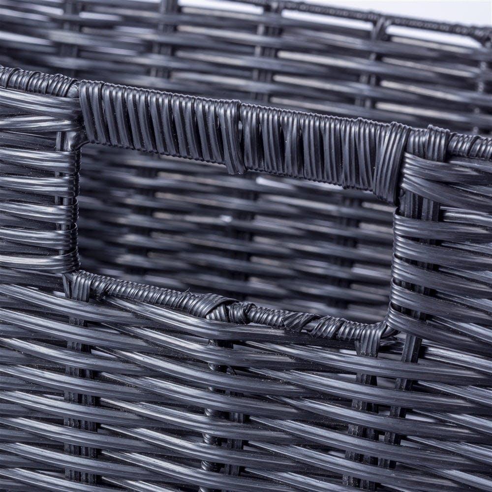 インテリアバスケット ブラック 浅型, , product