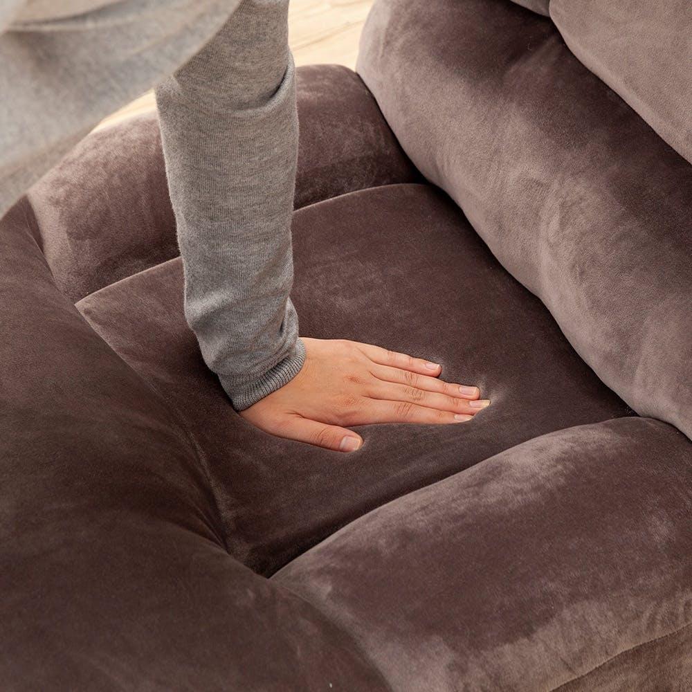 ゆったり座れる倒れにくいふんわり座椅子 グレー, , product