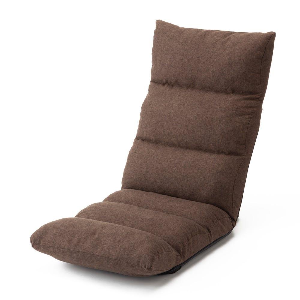 脚が楽になる倒れにくい低反発座椅子 ブラウン, , product