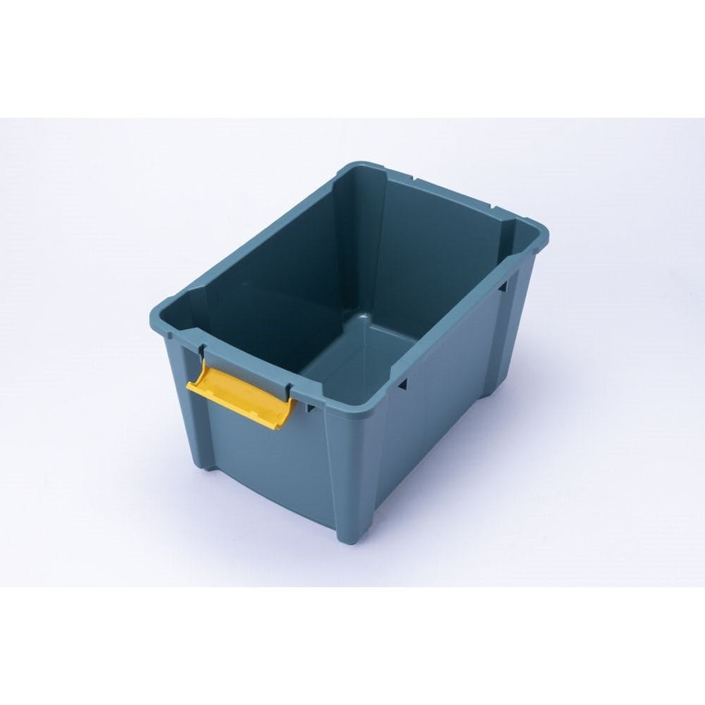 Kumimoku バックル付きストッカー 深型 オレンジ/ブルー, , product