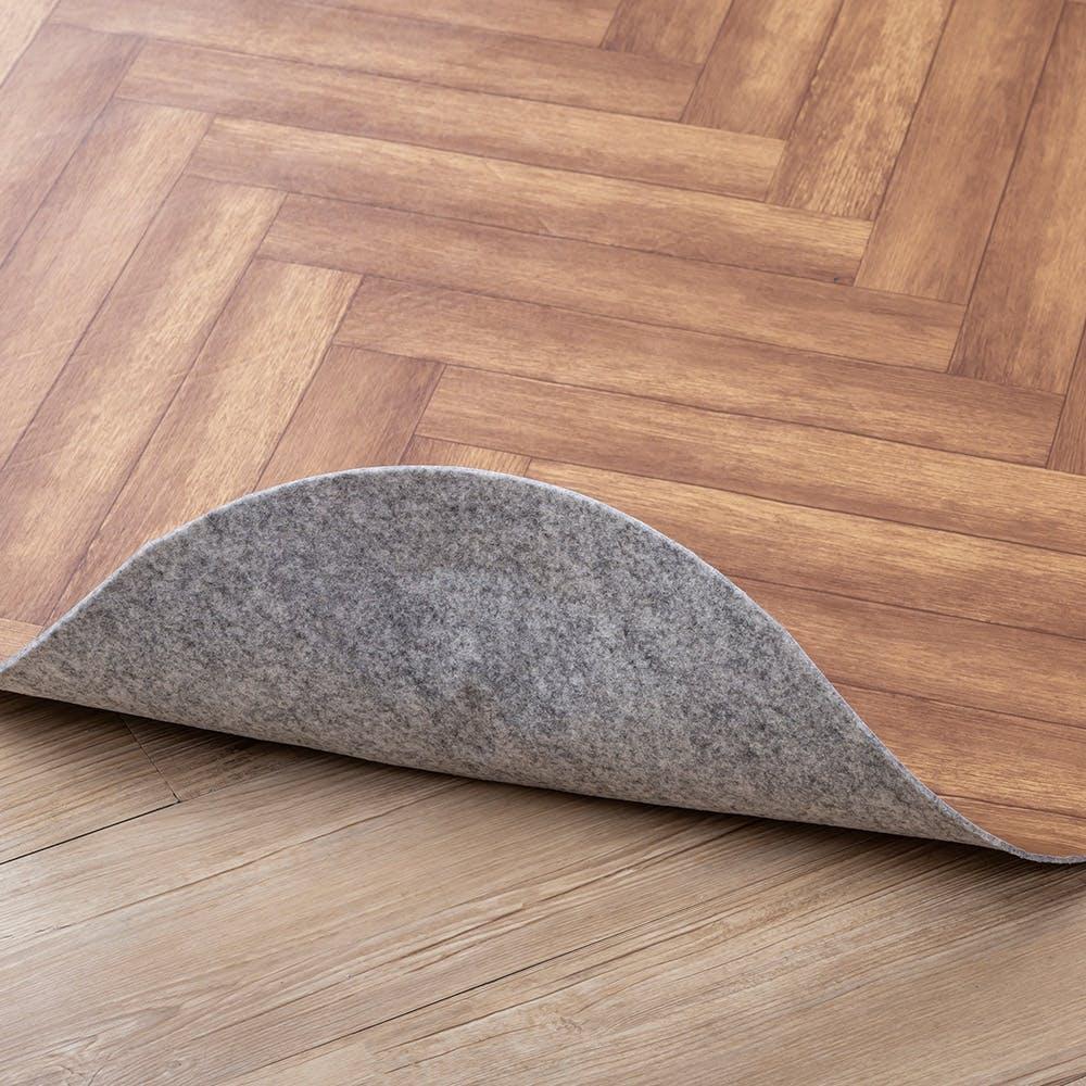 ズレにくいダイニングラグ ヘリンボン ブラウン 180×180, , product