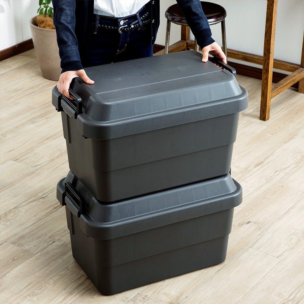 座れる丈夫な収納BOX 50 ブラック, , product
