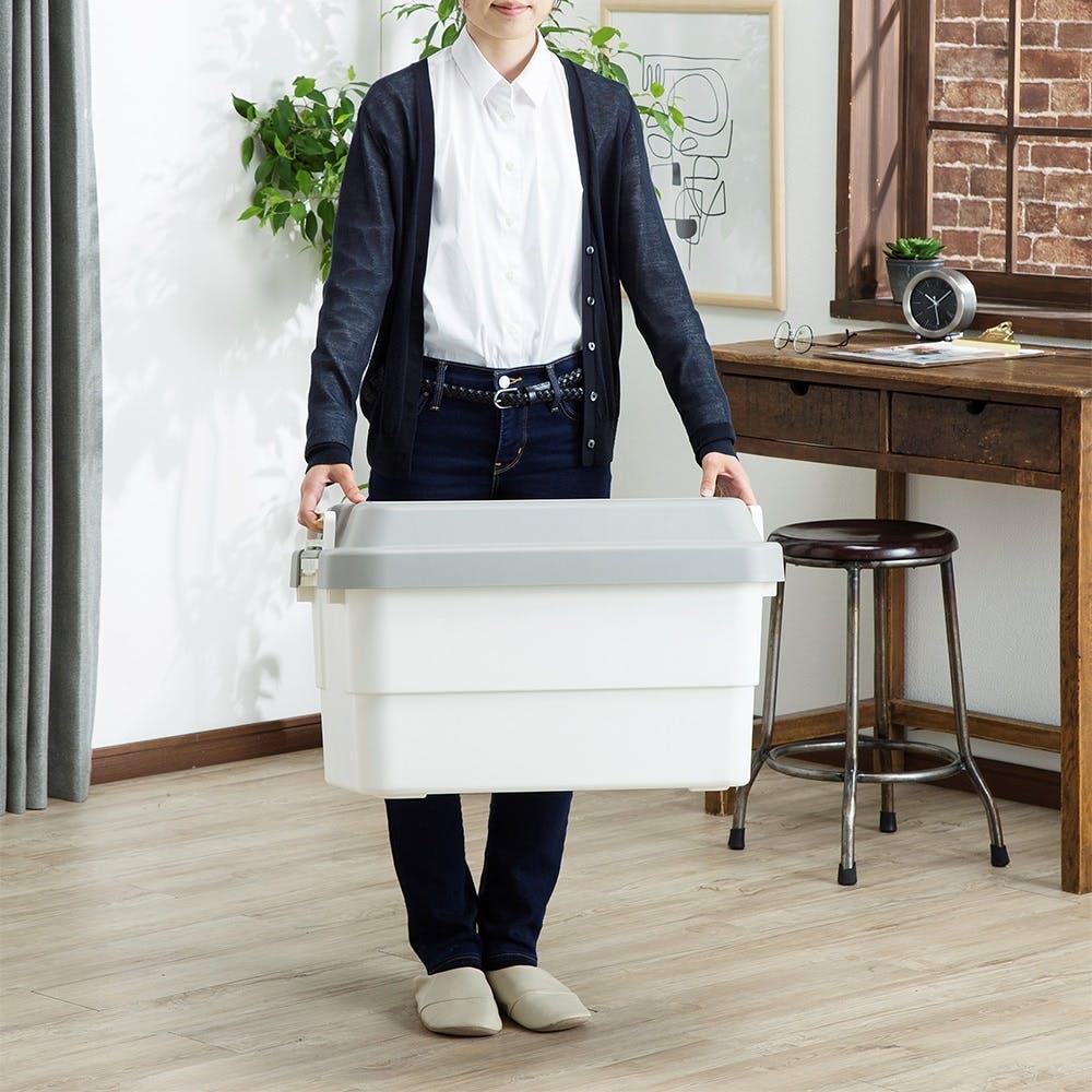 座れる丈夫な収納BOX 50 ホワイト, , product