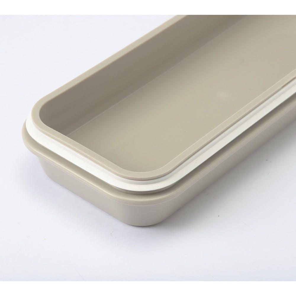 ふっくらランチボックス スリム HAJIKU グレー, , product