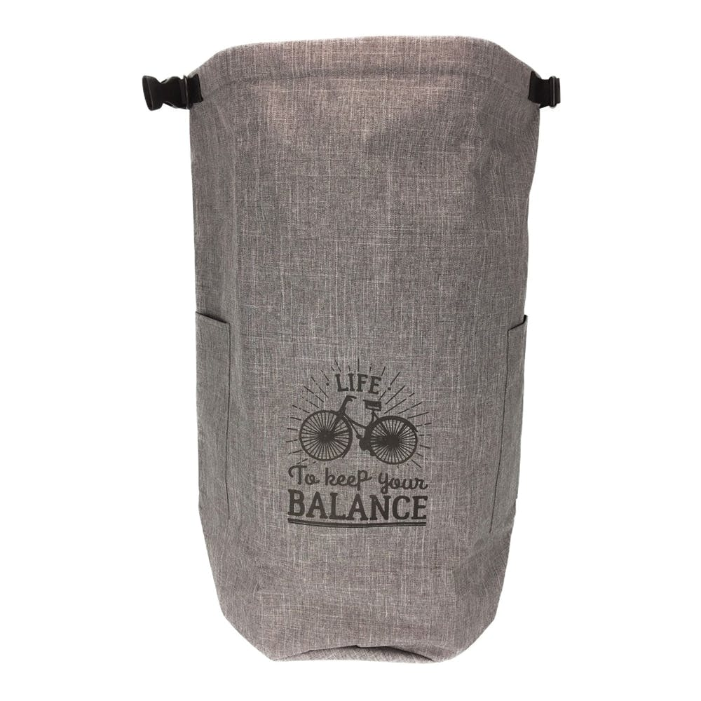 持ち運びしやすい大きなランドリーバッグ グレー, , product