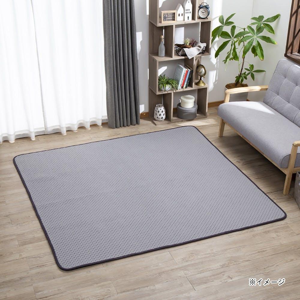 【店舗限定】低反発3層ジャガードラグ fwaat 185×185 グレー, , product