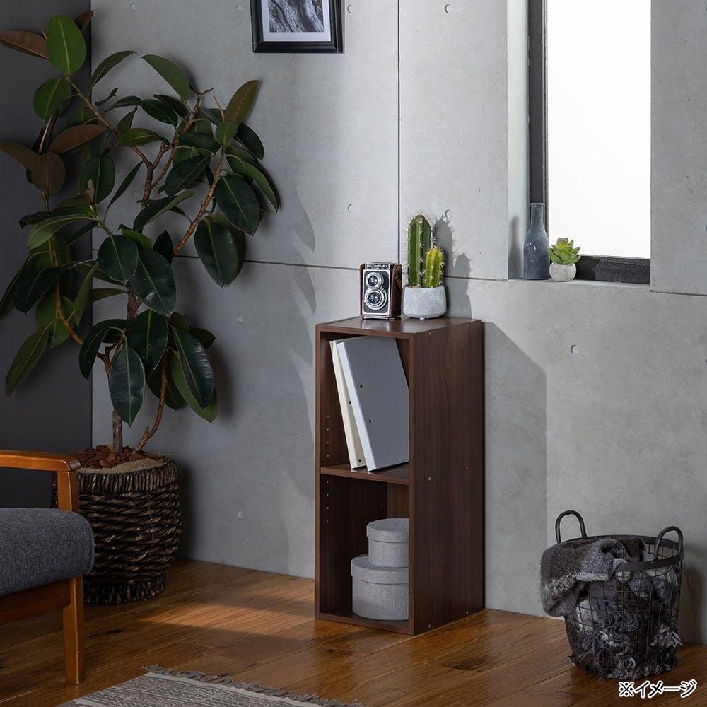 スリム収納ボックスA4 2段 ブラウン, , product