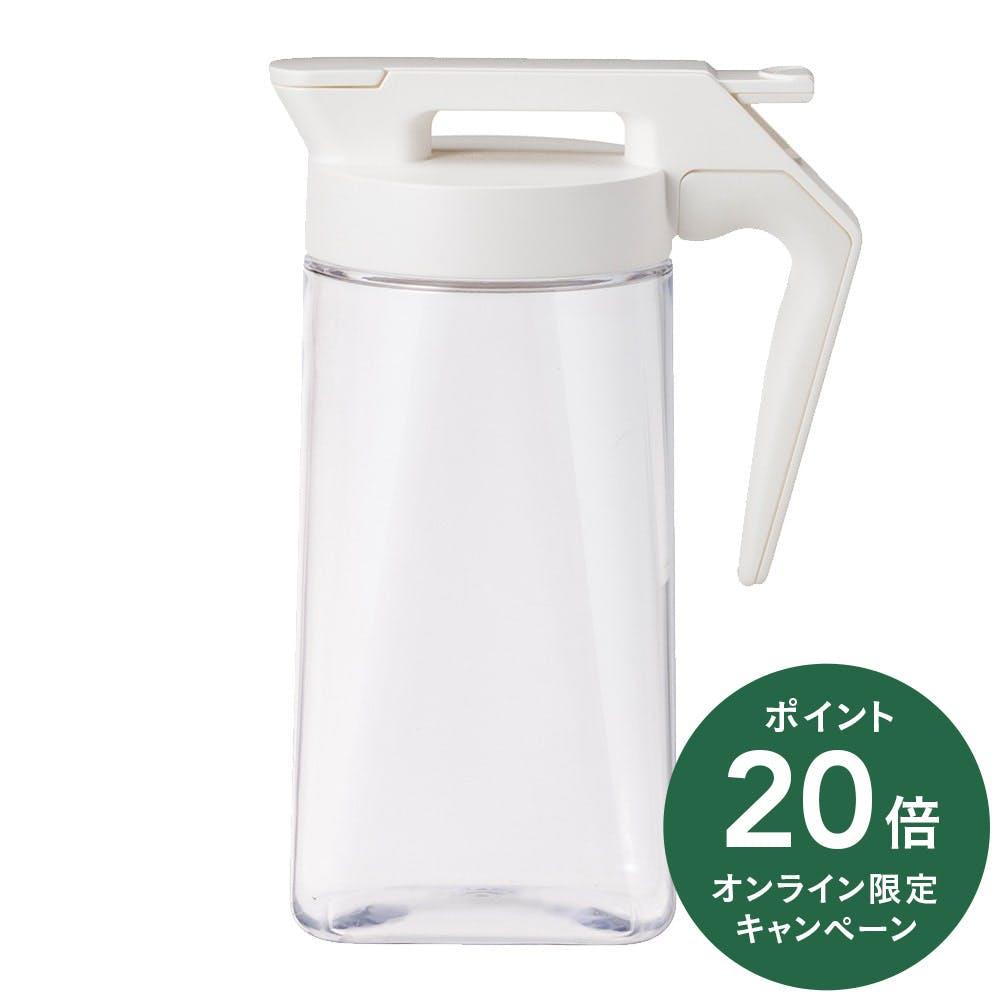 持ちやすいワンプッシュ冷水筒 1.6L ホワイト, , product