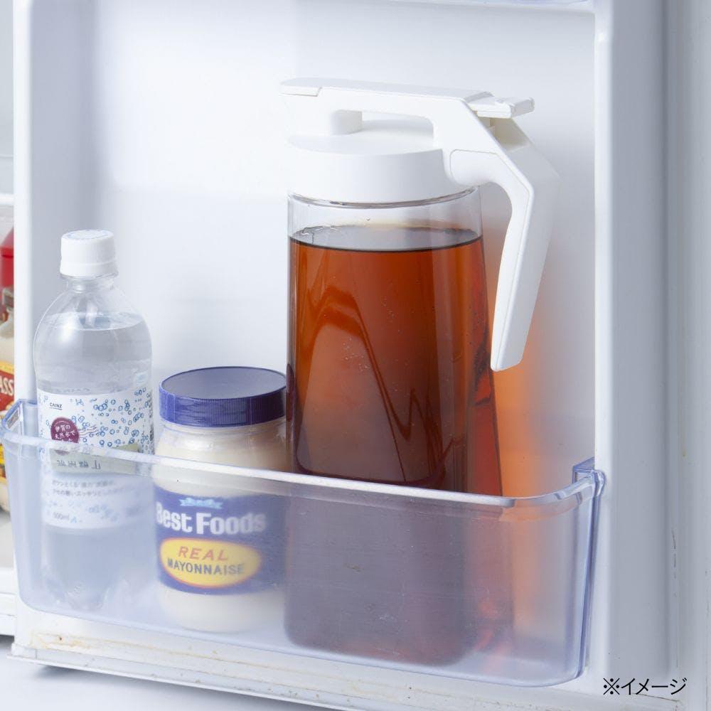 持ちやすいワンプッシュ冷水筒 2.1L ホワイト, , product