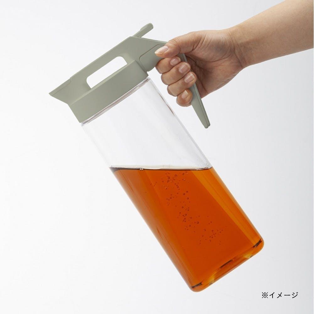 持ちやすいワンプッシュ冷水筒 2.1L グレー, , product