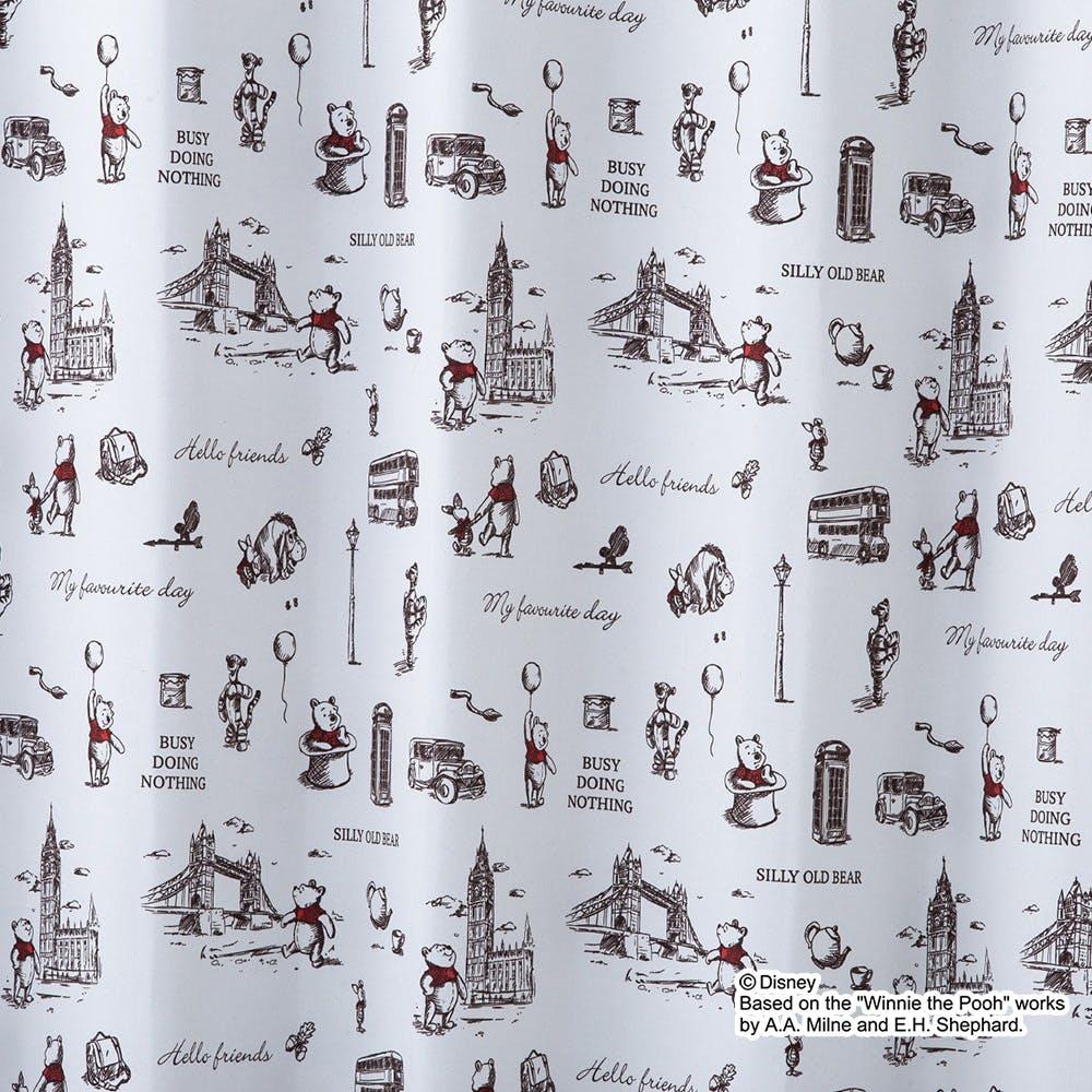 遮光性カーテン くまのプーさん/ロンドン 100×200cm 2枚組【別送品】, , product