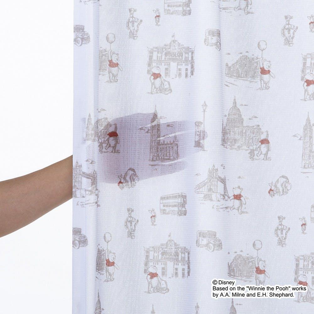 くまのプーさん/ロンドン 100×198cm 2枚組 レースカーテン【別送品】, , product