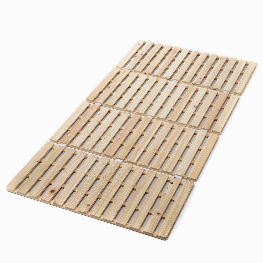 布団が干せる ひのきスノコ 四つ折 マットレス シングル 97×200×2.2cm, , product