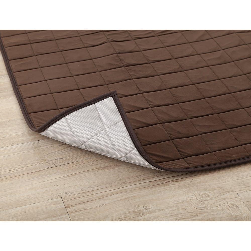 【店舗限定】空気が通るもちもちキルトラグ 185×185 ブラウン, , product