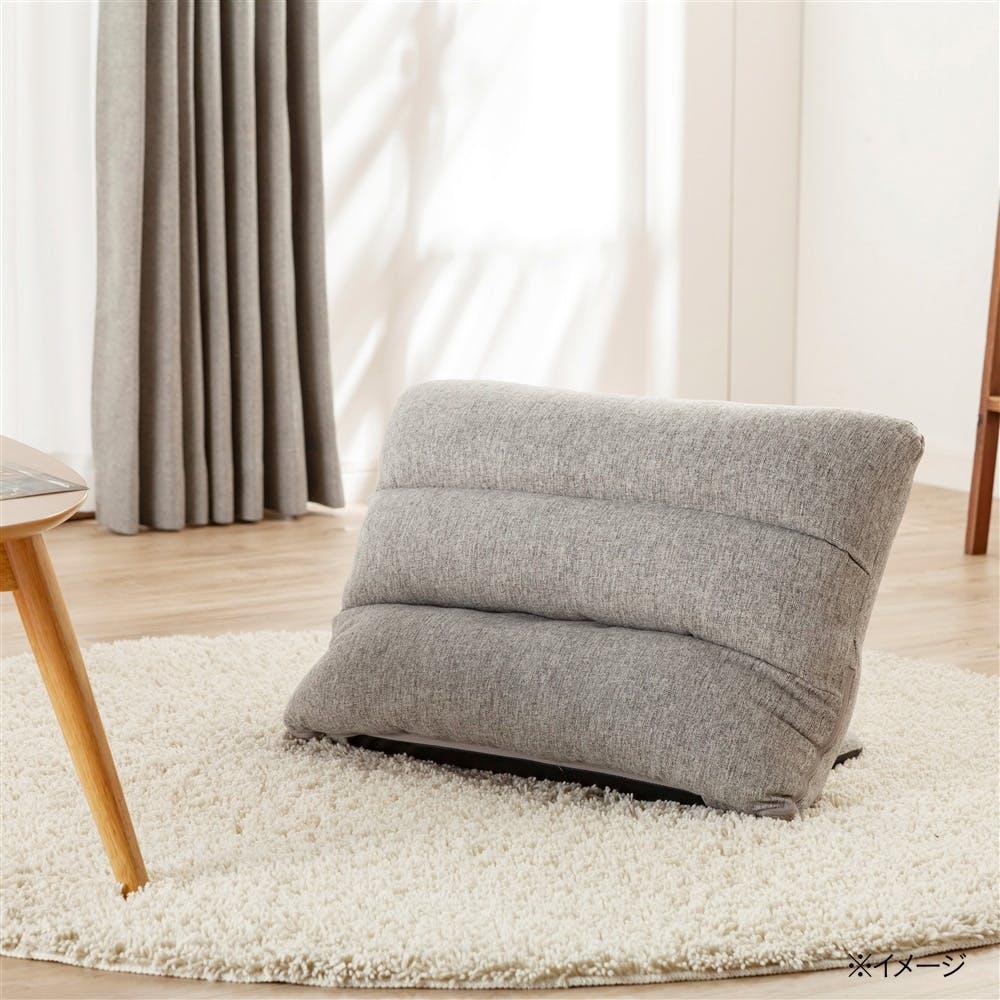 枕にもなる背もたれ座椅子 Lepoco グレー, , product
