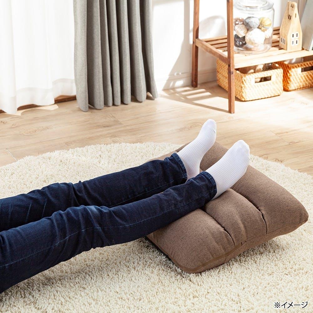 枕にもなる背もたれ座椅子 Lepoco ブラウン, , product
