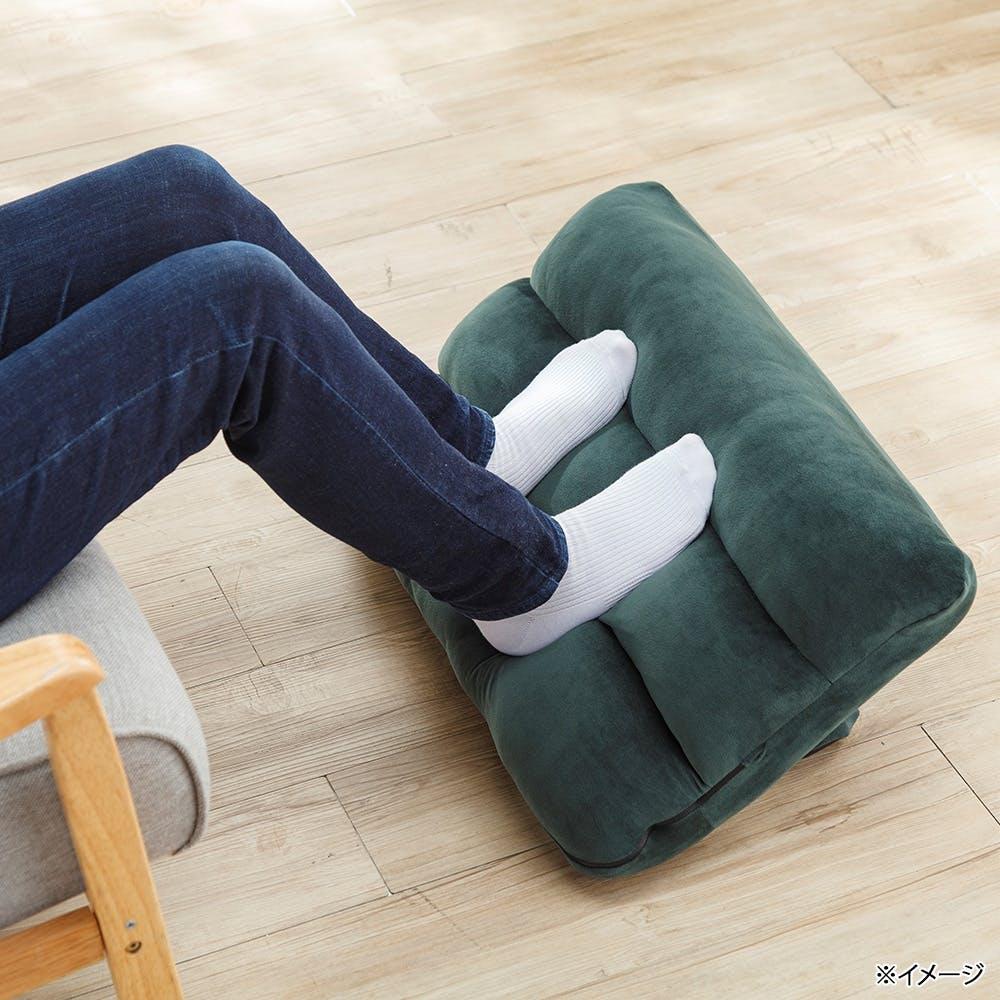枕にもなる背もたれ座椅子 Lepoco ダークグリーン, , product
