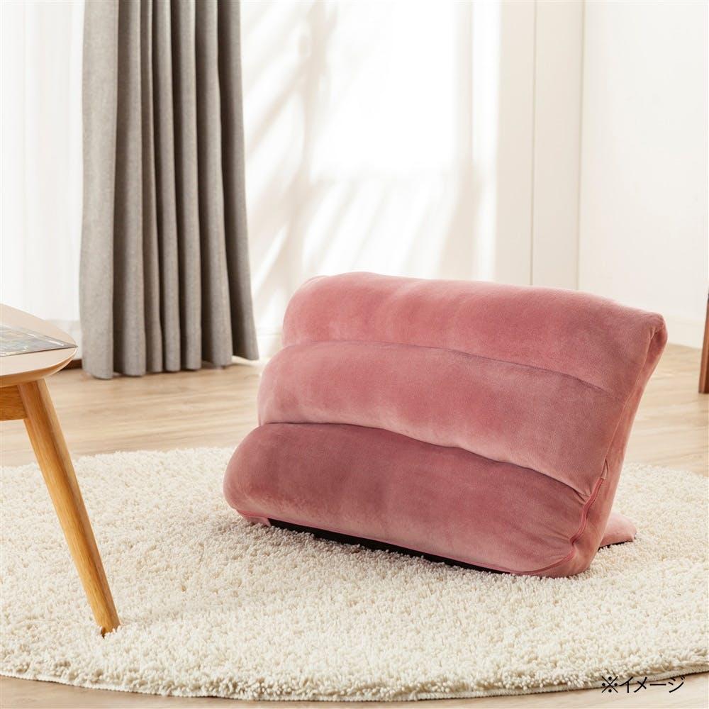 枕にもなる背もたれ座椅子 Lepoco ピンク, , product