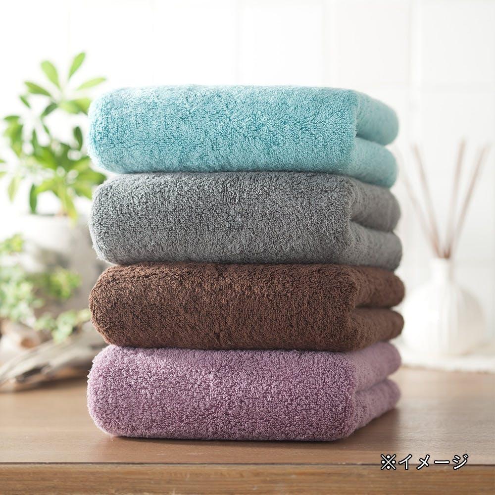 洗濯してもふんわり長持ちバスタオル パープル, , product