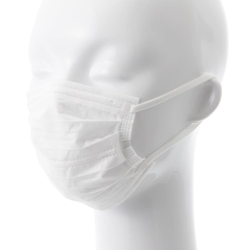 不織布 やわらかふわふわダブルワイヤーマスク やや小さめ 30枚, , product