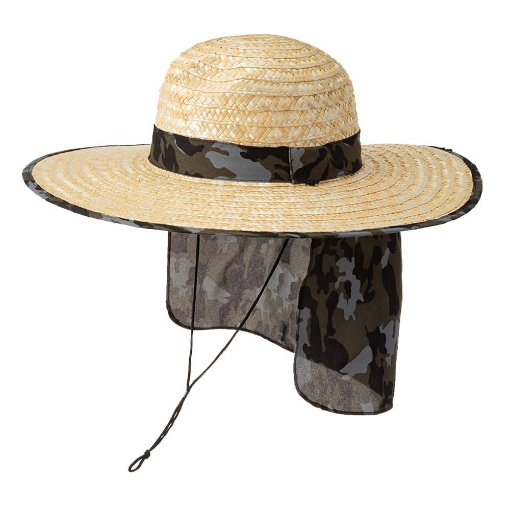紳士日よけ付麦わら帽子(消臭糸使用) カモフラ, , product