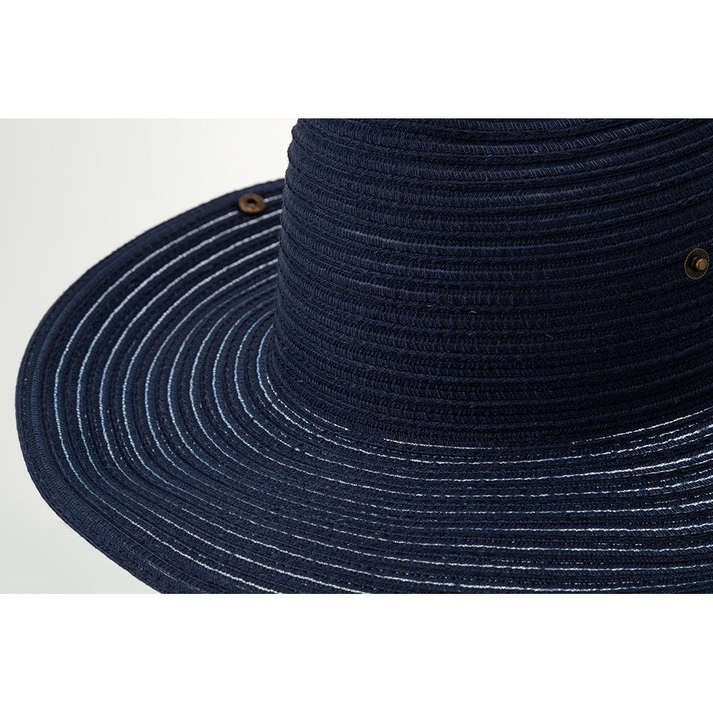 洗える麦わら風帽子 カーボーイ ネイビー, , product