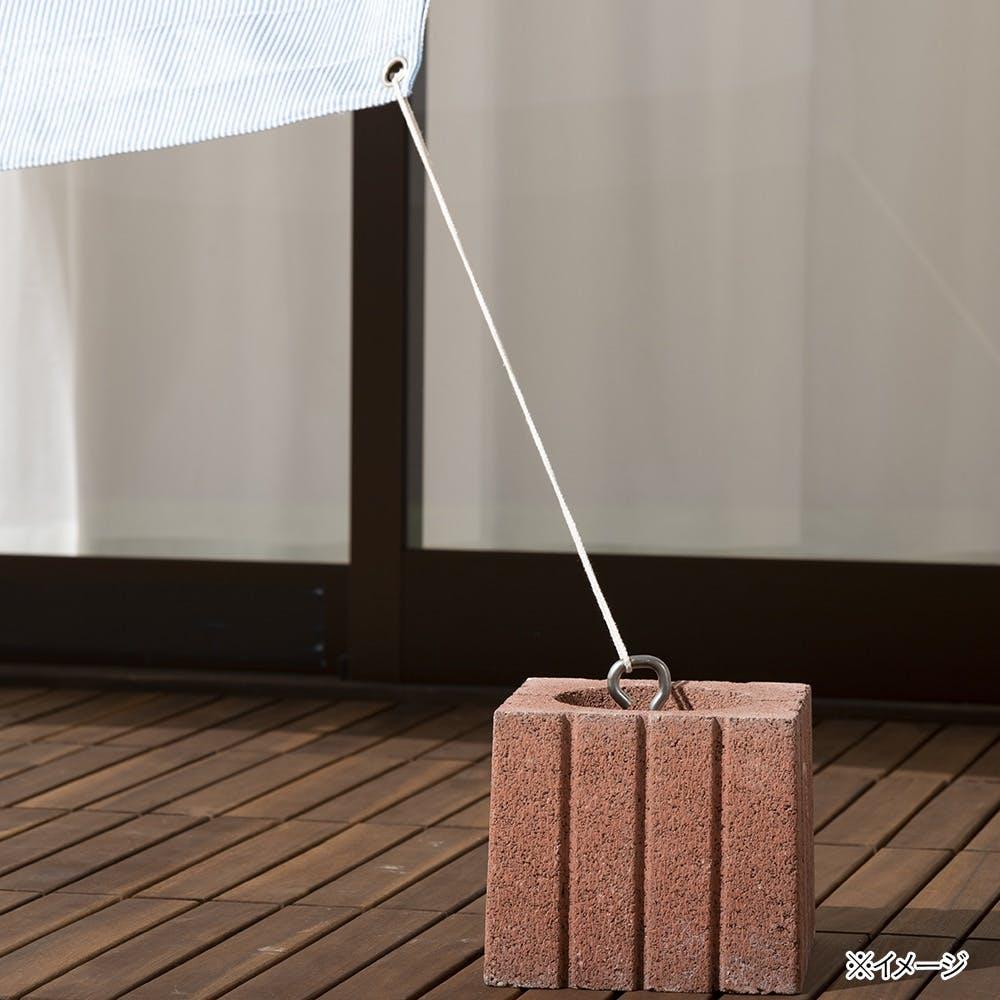 【数量限定・2021春夏】日よけ サンセイルを固定する綿混ロープ アイボリー 2m 4本入, , product