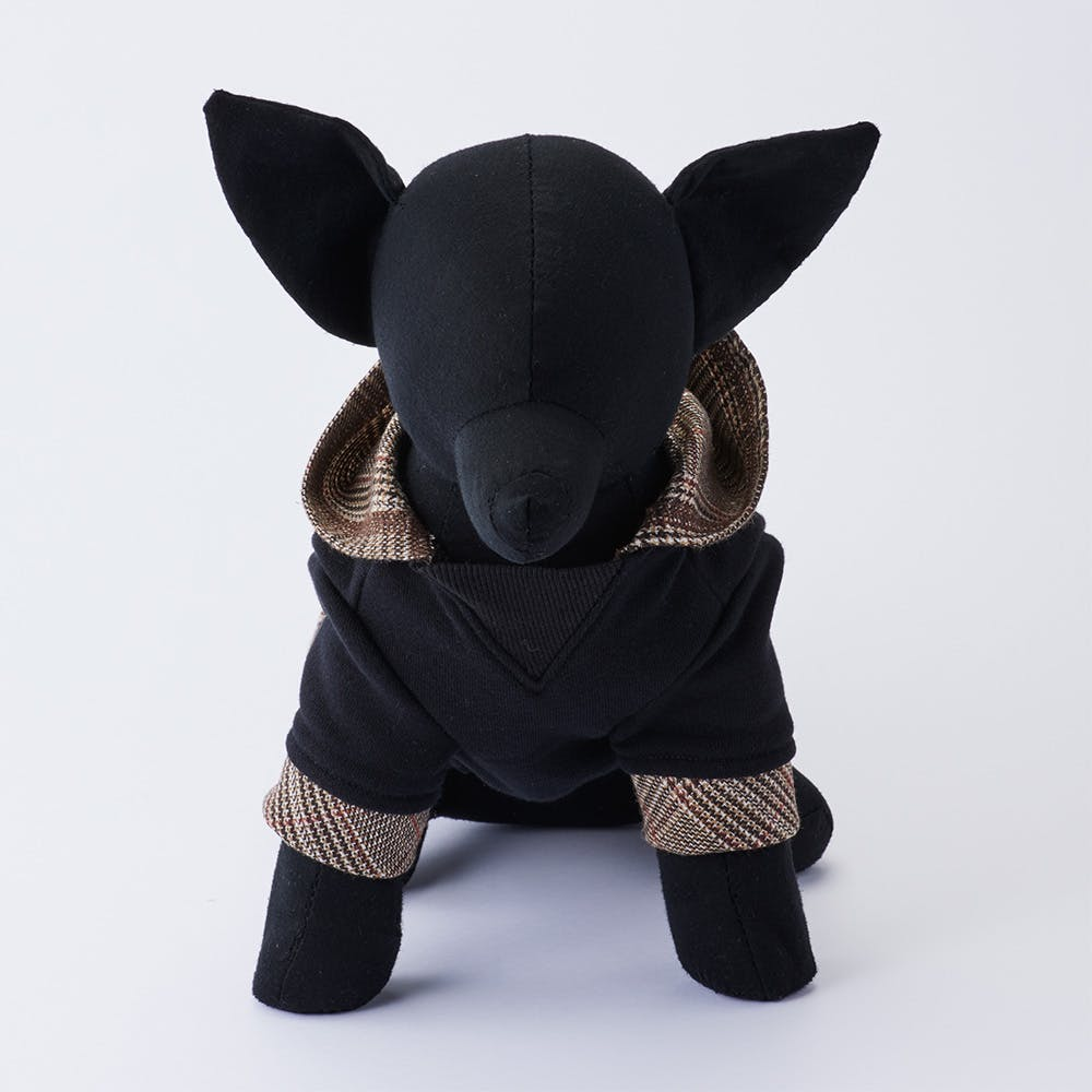 【2021秋冬】ガンクラブチェックパーカー Mサイズ ペット服(犬の服), , product