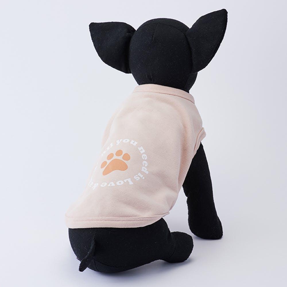 【2021秋冬】プリントトレーナー ピンク Lサイズ ペット服(犬の服), , product