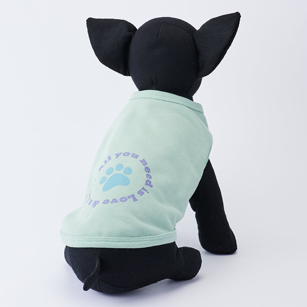 【2021秋冬】プリントトレーナー グリーン Sサイズ ペット服(犬の服), , product