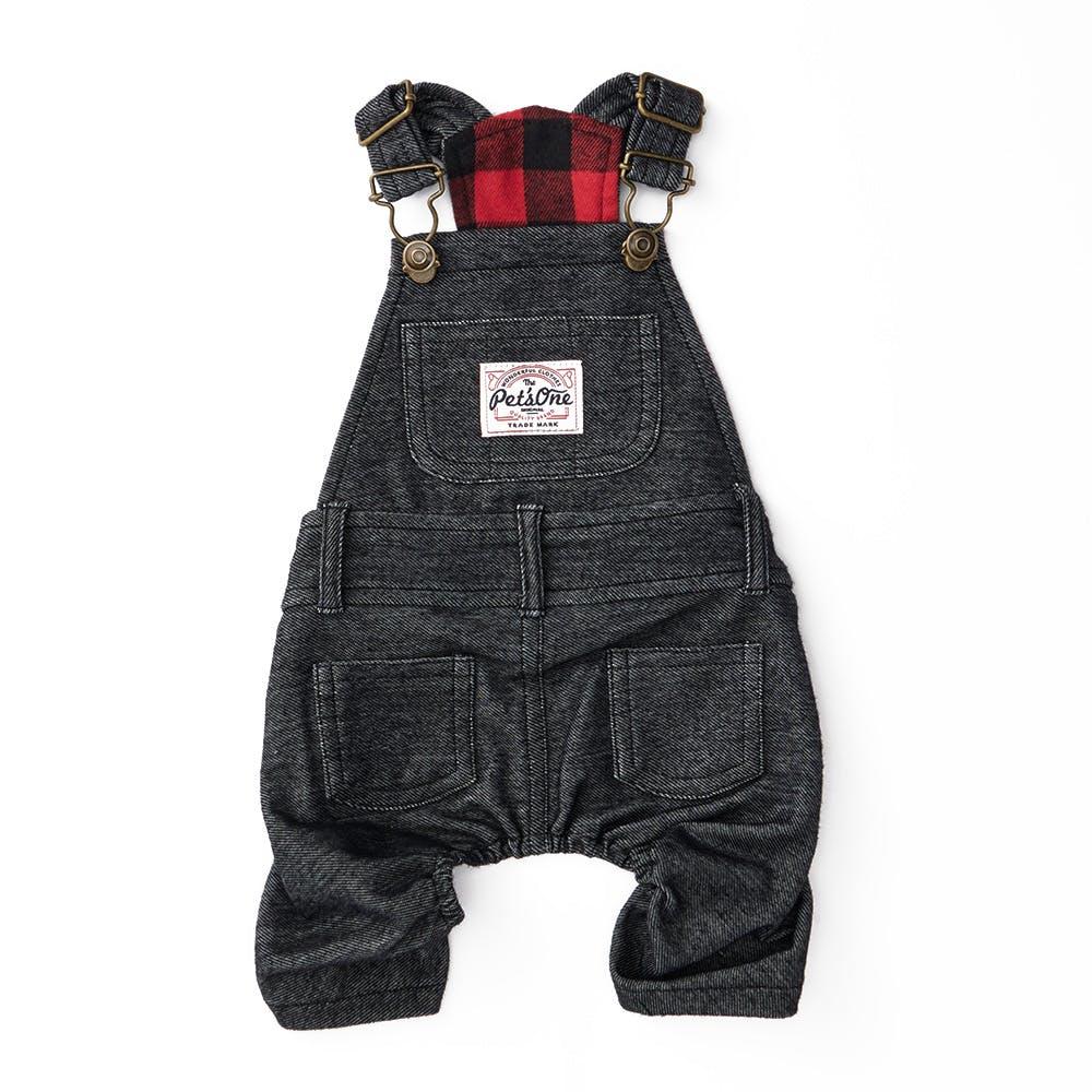 【2021秋冬】オーバーオール ブラック SSサイズ ペット服(犬の服), , product