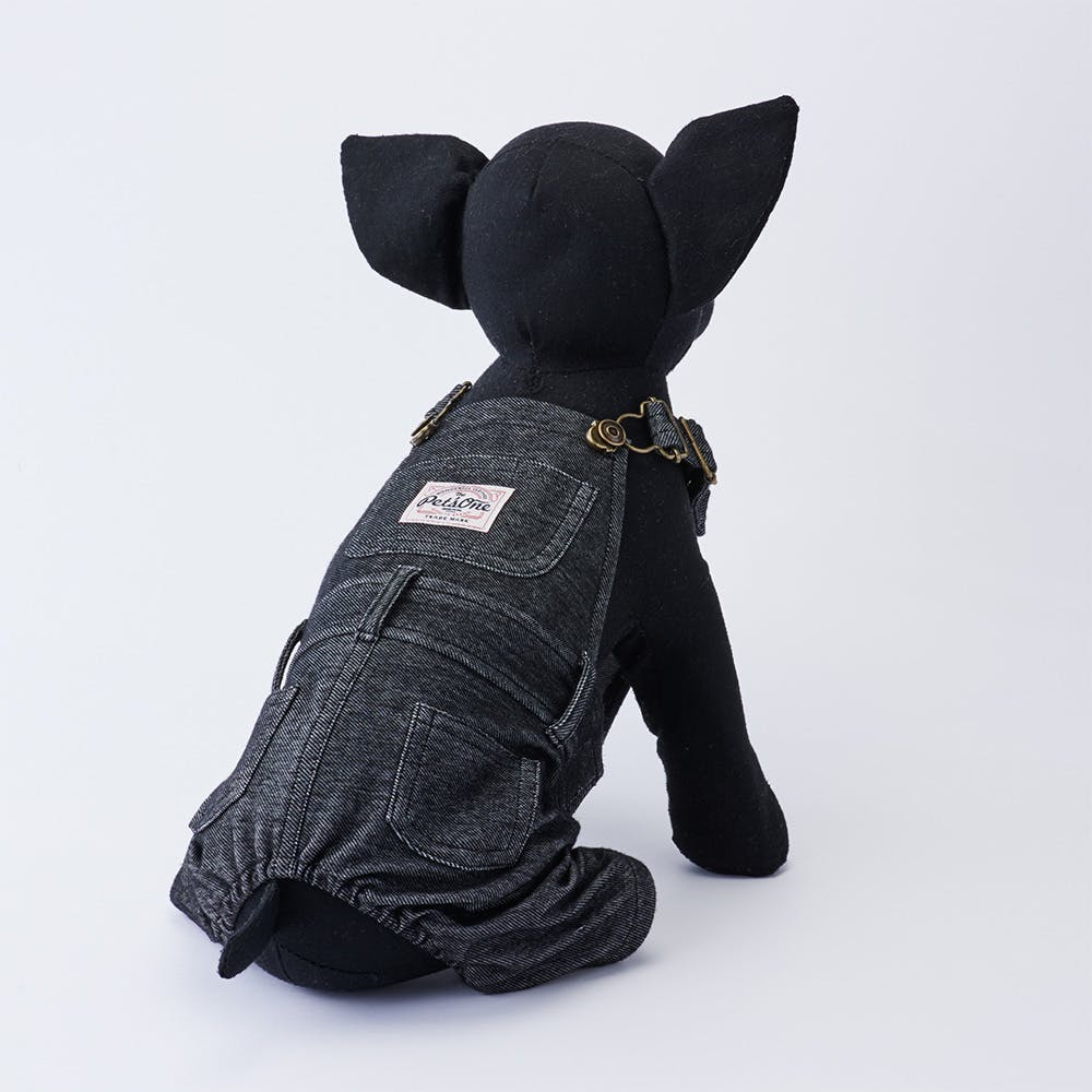 【2021秋冬】オーバーオール ブラック Mサイズ ペット服(犬の服), , product
