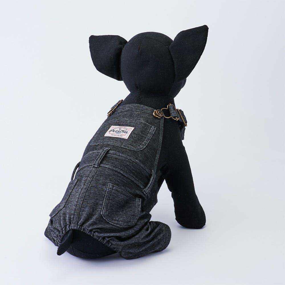 【2021秋冬】オーバーオール ブラック Lサイズ ペット服(犬の服), , product