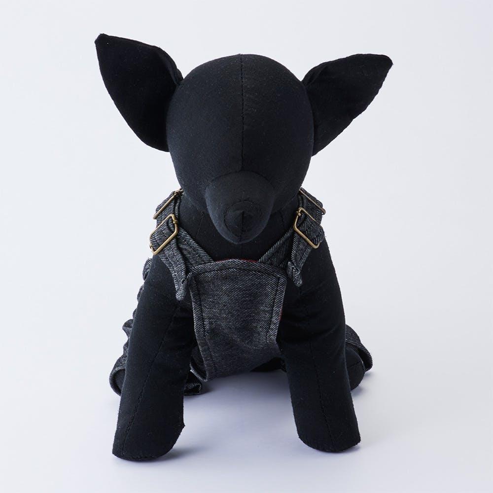 【2021秋冬】オーバーオール ブラック SDサイズ ペット服(犬の服), , product