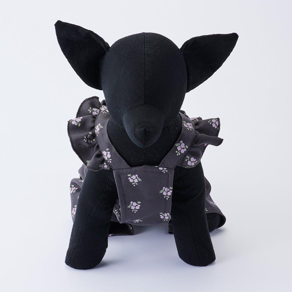 【2021秋冬】オーバーオール 花柄 Sサイズ ペット服(犬の服), , product