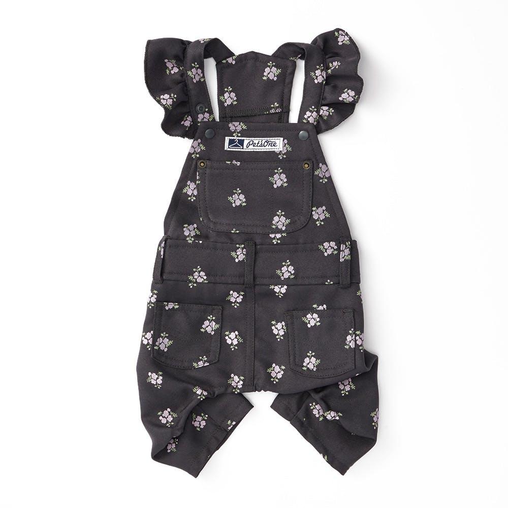【2021秋冬】オーバーオール 花柄 MDサイズ ペット服(犬の服), , product