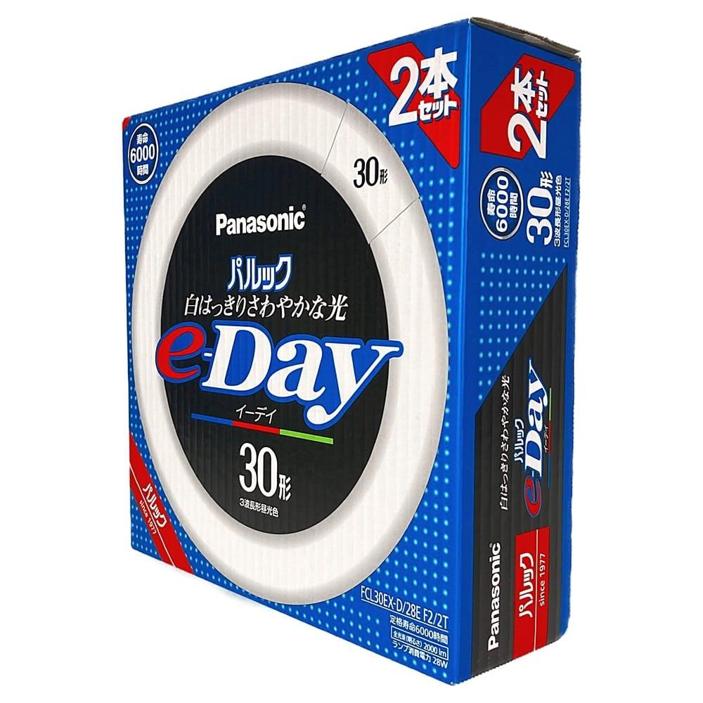 パナソニック 丸形蛍光灯パルックe-Day 30形2本入 FCL30EXD28EF22T 昼光色, , product