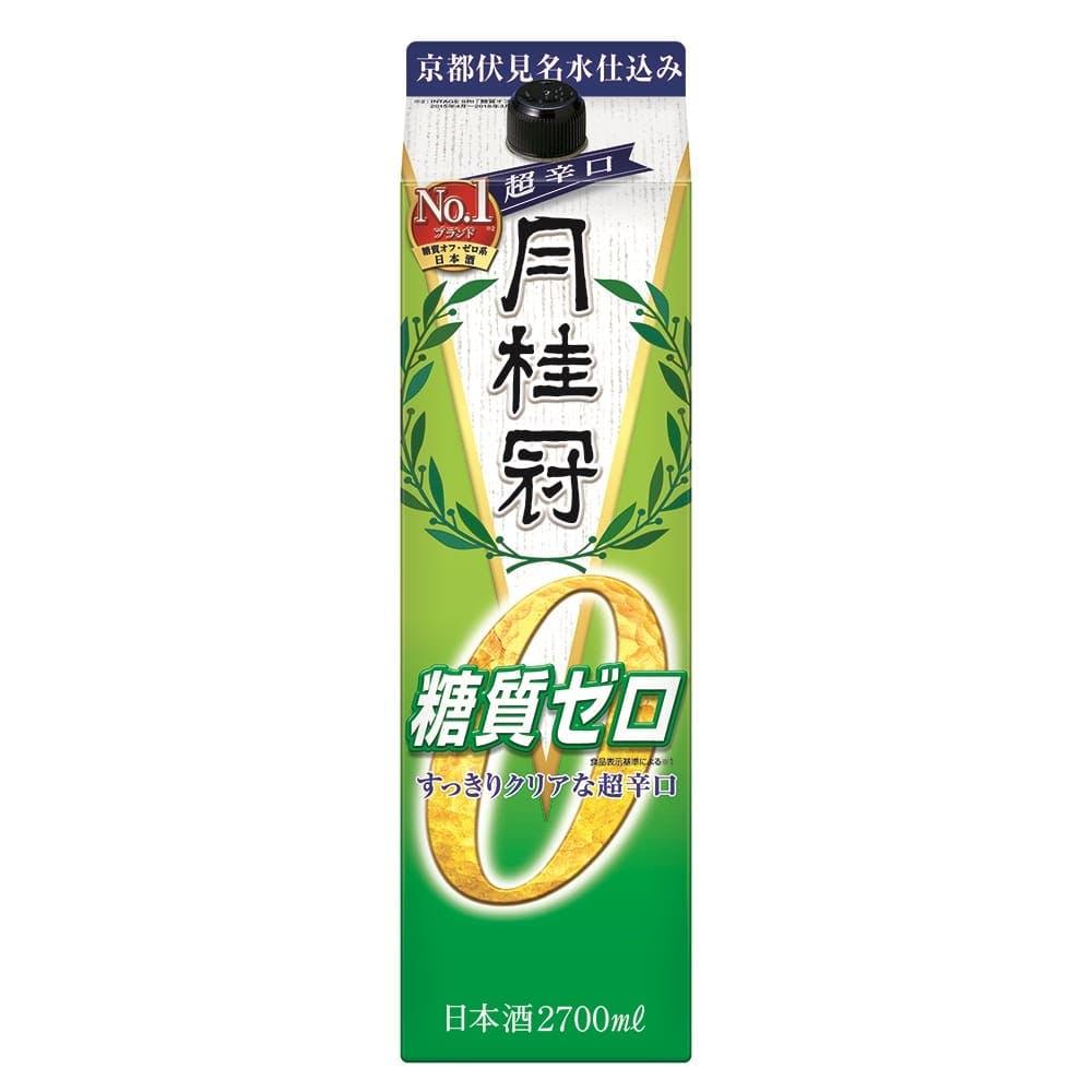 月桂冠 糖質ゼロ パック 2700ml【別送品】, , product