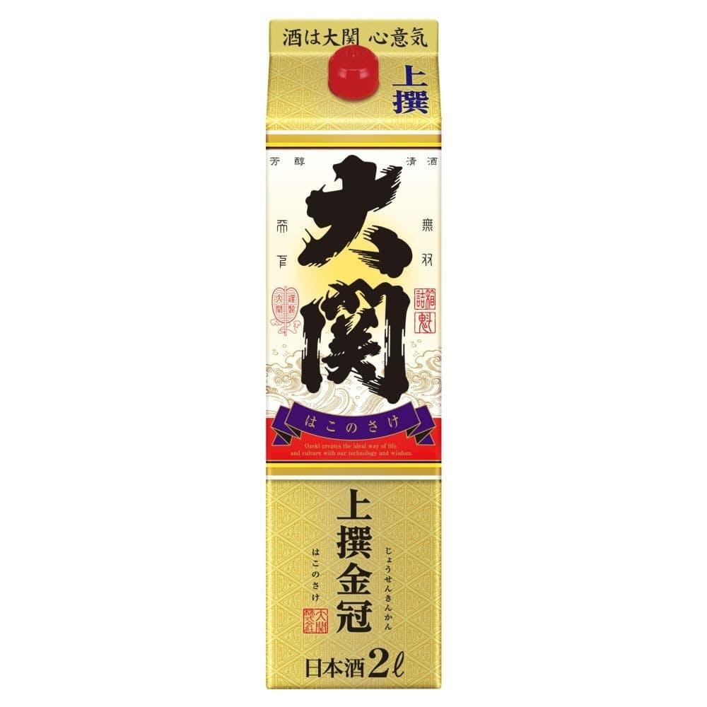 大関 上撰 金冠 はこのさけ 2000ml【別送品】, , product