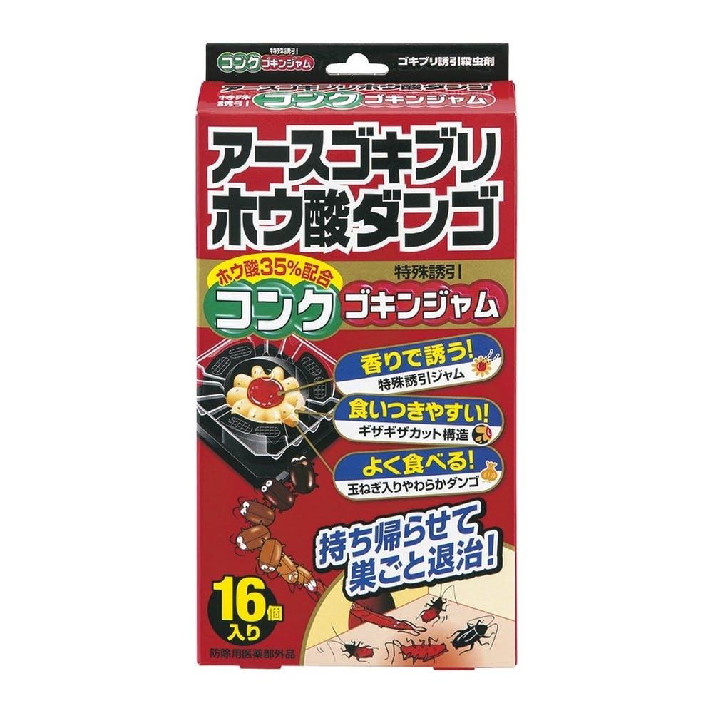 アース製薬 アースゴキブリホウ酸ダンゴ コンクゴキンジャム 16個, , product