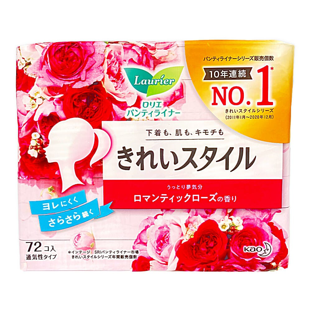 花王 ロリエ パンティライナー きれいスタイル ロマンティックローズの香り 72個, , product