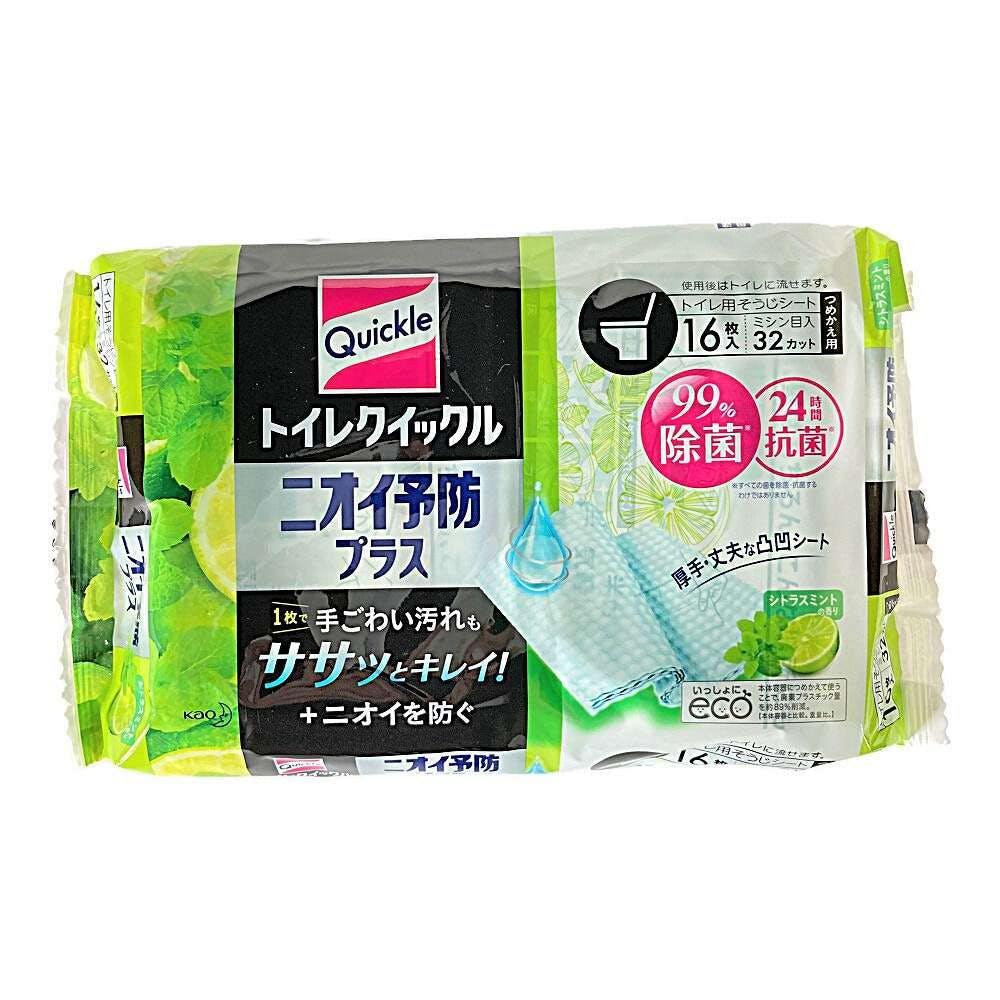 花王 トイレクイックル ニオイ予防プラス シトラスミントの香り つめかえ用 16枚, , product