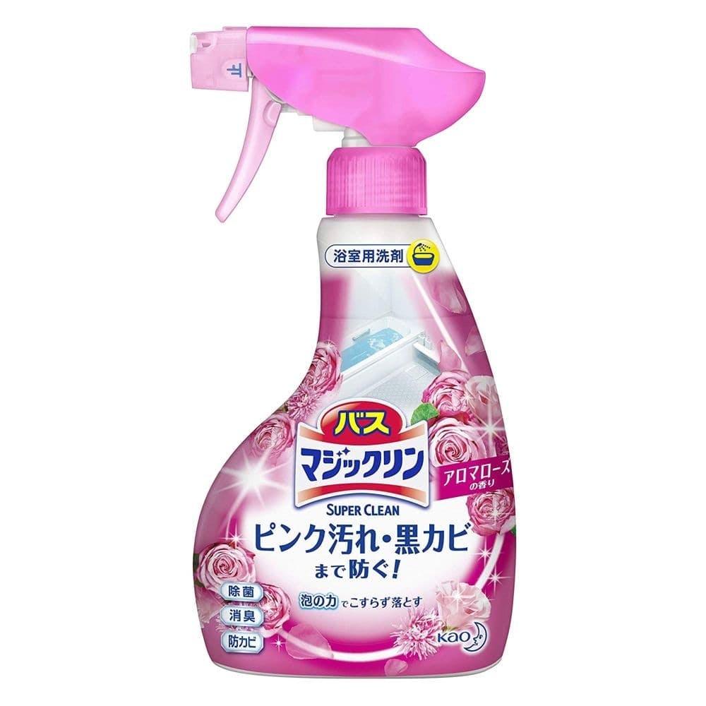 花王 バスマジックリン 泡立ちスプレー SUPER CLEAN アロマローズの香り 本体 380ml, , product