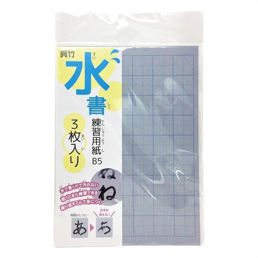 呉竹 水書練習用紙 マス目入り B5, , product