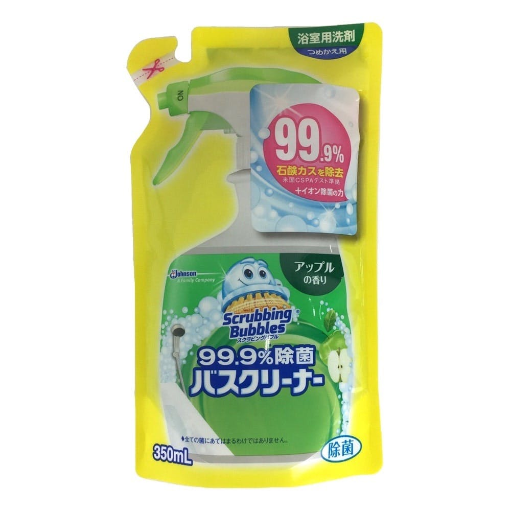 ジョンソン スクラビングバブル 99.9%除菌バスクリーナー アップルの香り 詰替 350ml, , product