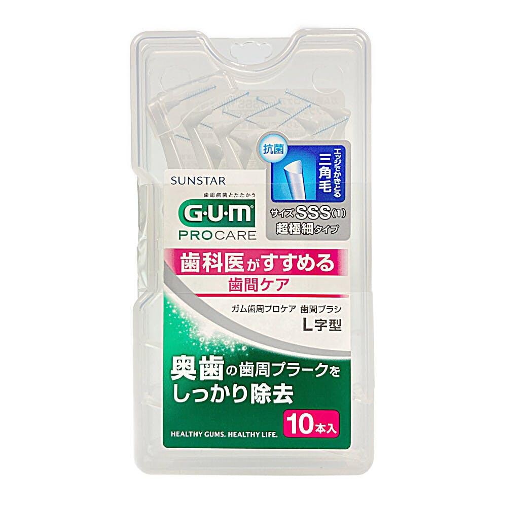サンスター ガム歯周プロケア 歯間ブラシL字型 SSS 10本, , product