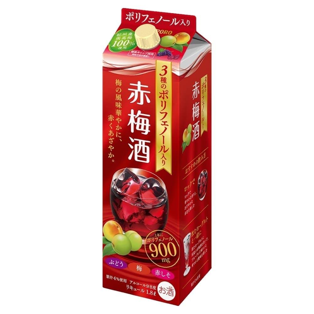 サッポロ 3種の贅沢ポリフェノール 赤梅酒 1800ml【別送品】, , product