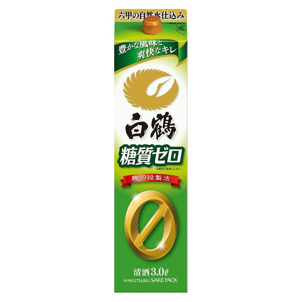 白鶴 サケパック 糖質ゼロ 3000ml, , product